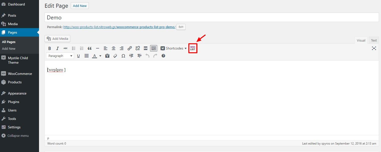 Editor plugin for Shortcode Builder